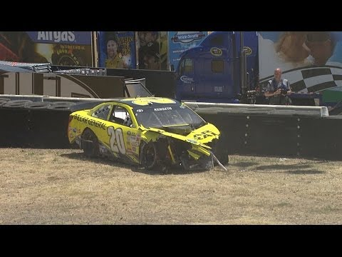 Matt Kenseth Huge Crash @ 2014 Toyota Save Mart 350