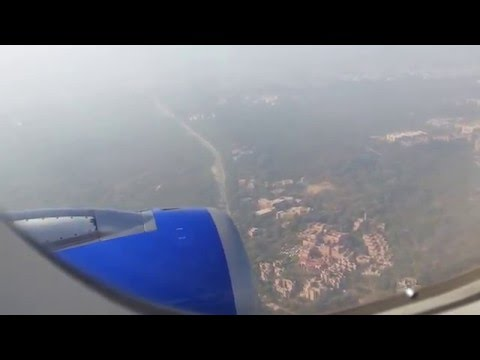 Flight Landing from Passengers View - Indigo Airlines