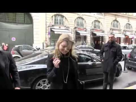 EXCLUSIVE - beautifull Kate Moss and daughter Lila Grace in Paris, France