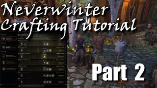 Neverwinter Crafting Tutorial Pt.2 Primary Professions