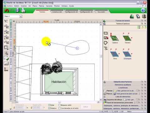 Dise o jardines 3d 7 0 tutorial video 1 crear un estanque for Diseno jardines 3d