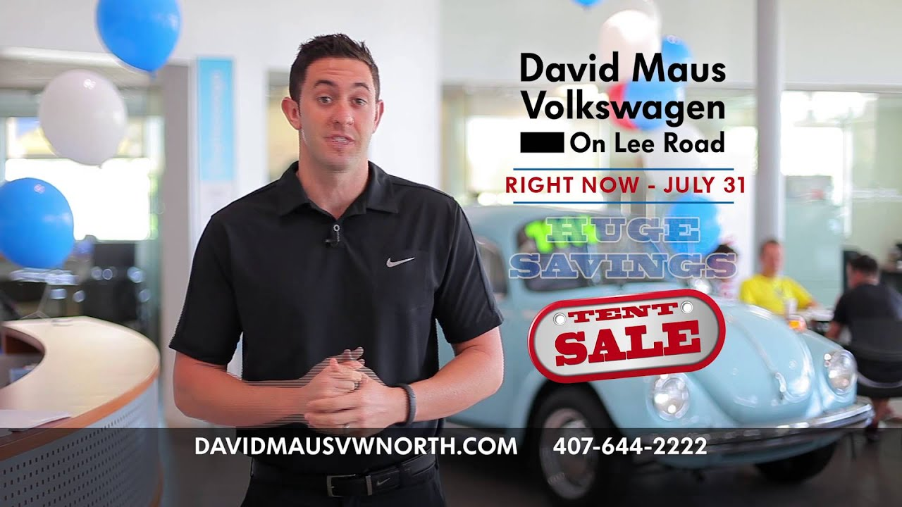 tent sale going on right now at david maus volkswagen on. Black Bedroom Furniture Sets. Home Design Ideas