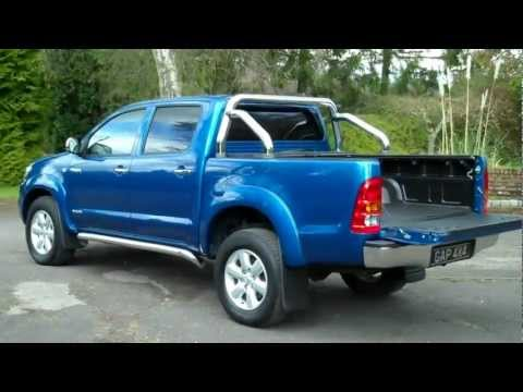 Toyota Hilux 3 0 D4 D Invincible 2009 59 Island Blue with Grey Leather