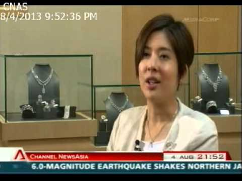 (Singapore) Ms Pauline Tsang, Executive Director of Larry Jewelry on CNA