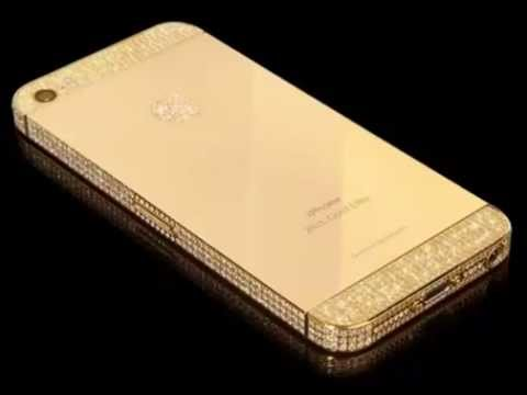 iphon 5 S of pure gold, platinum and diamonds