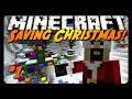 Minecraft: SAVING SANTA, TRAYAURUS & CHRISTMAS! (Science Santa Adventure Map #1)