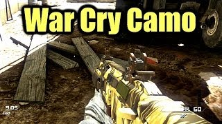 CoD Ghosts WAR CRY Camo On ALL Weapons  Every Gun War Cry Camo