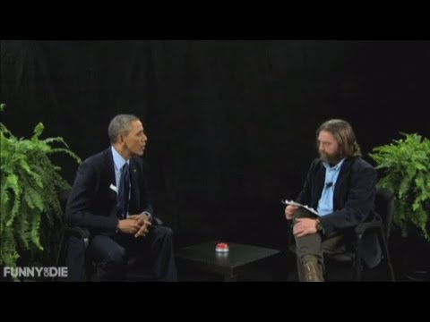 US President goes on comedy website show to promote Obamacare