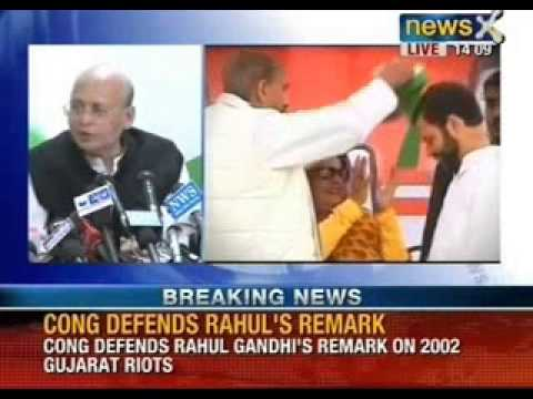 Breaking News: Congress defends Rahul Gandhi's remark on 2002 Gujarat riots - NewsX
