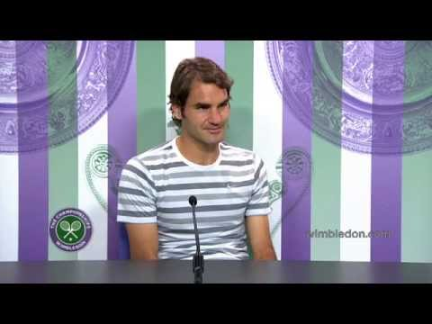 Roger Federer Pre-Final Press Conference - Wimbledon 2014