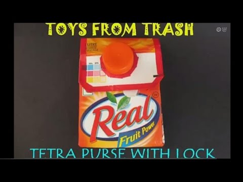 Tetra Purse with Lock | Kannada | Fun with Tetra Pak!