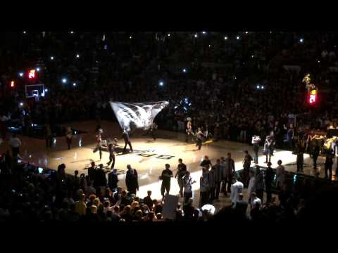6/5/14 NBA Finals Game 1 Spurs VS Heat Player Introductions