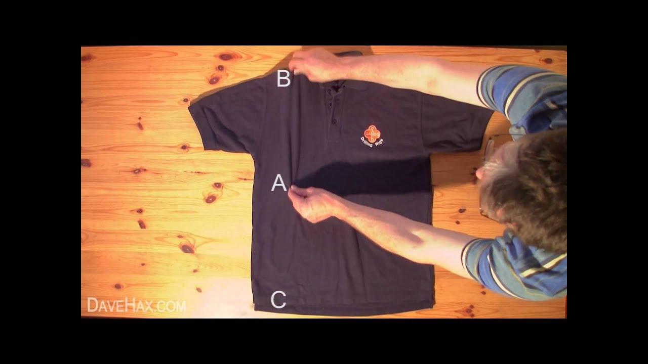 Doblar una remera en 2 segundos youtube - Como doblar una camisa ...