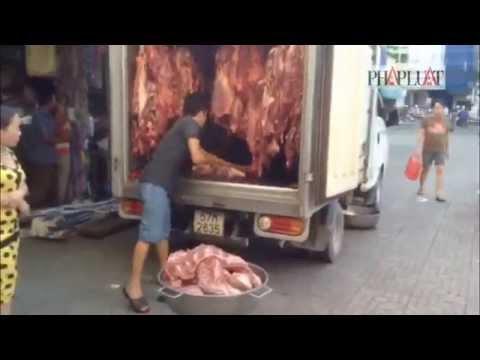 Ngăn chặn gần 100 kg thịt bò bơm nước trước khi vào chợ