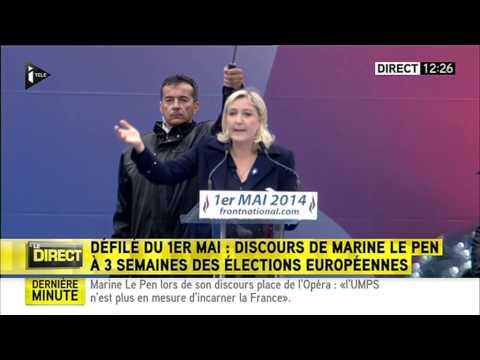 1er mai 2014 - Discours de Marine Le Pen à Paris