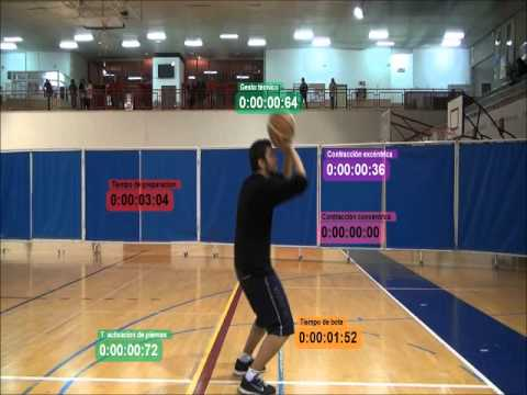 Análisis Biomecánico: tiro libre, baloncesto. CAFD 2012