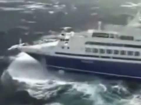 CRUISE SHIP IN ROUGH SEAS  YouTube