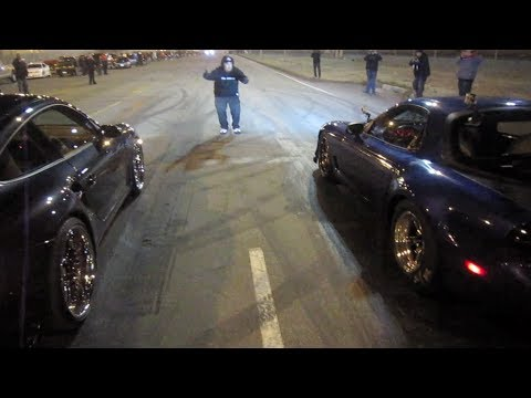 Team Boddie 911 PORSCHE vs DNR LS NITROUS RX7
