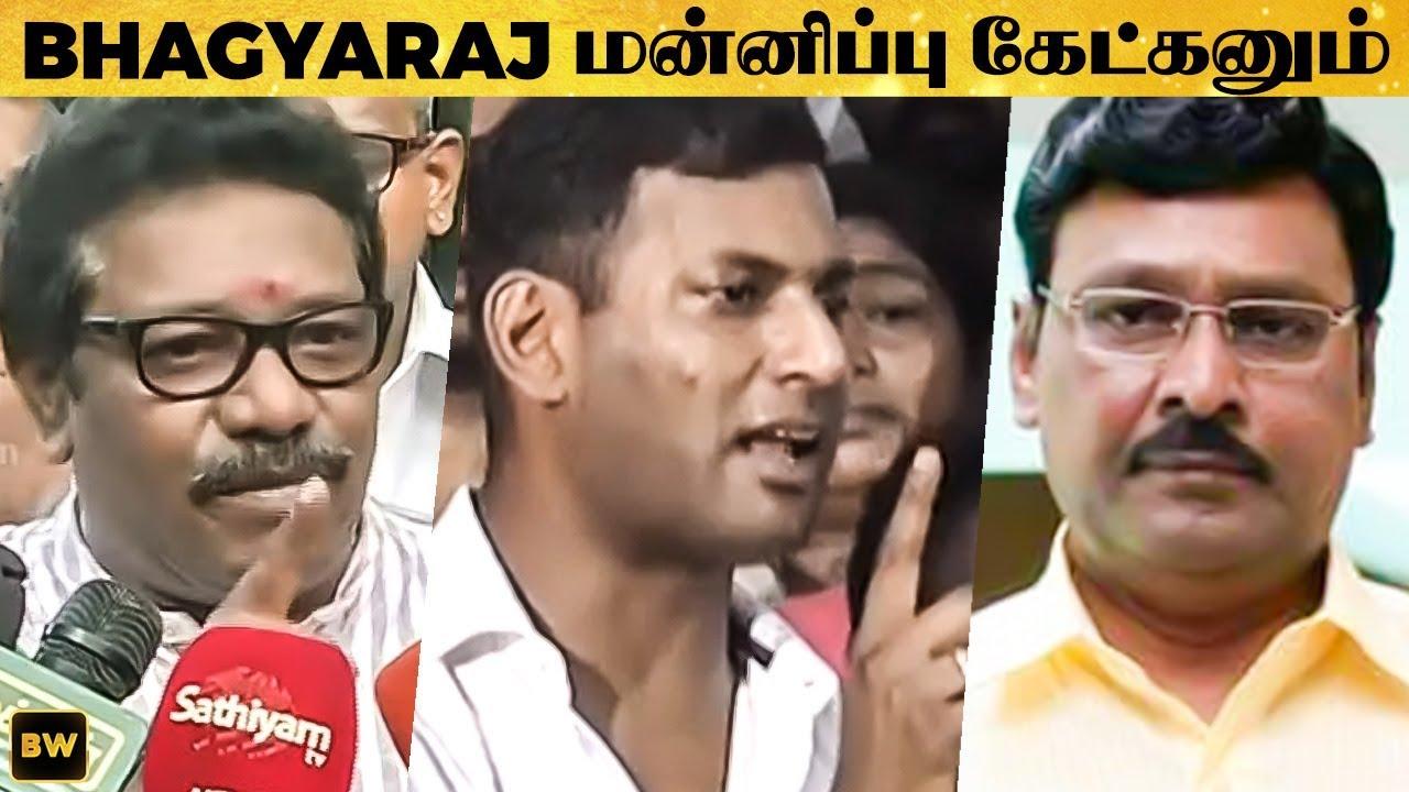 Bhagyaraj-ஐ  கடுமையாக எச்சரித்த Karunas | Vishal | Nadigar Sangam Elections | TN