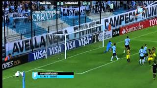 Racing 4 - Guaraní 1. Copa Libertadores 2015. .