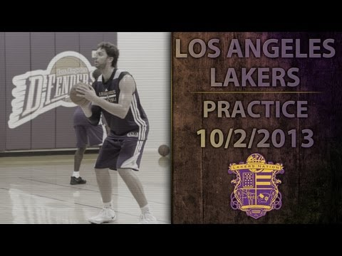 Lakers Practice (10/2/13): Pau Gasol, Nick Young, Chris Kaman, Ryan Kelly Shooting Around