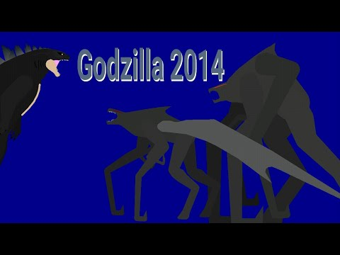 (Stick nodes funny animation)  Godzilla 2014 funny animation