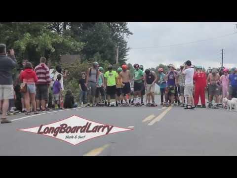 Cathlamet DH 2013 - Longboard Larry: Push Race