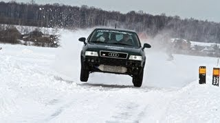 Audi S2 Quattro Coupe 610hp. Winter rally 2013.