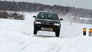 Audi S2 Quattro Coupe 610hp. Winter rally 2013.
