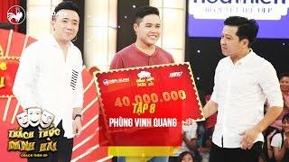 Thách thức danh hài 3   tập 8: nói nhanh không vấp, Vinh Quang ẵm trọn 40 triệu