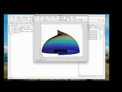 Spherical coordinates and plotting in MATLAB