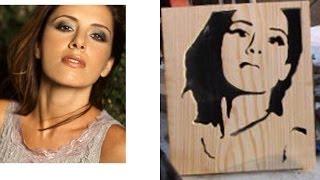 Artesania de madera repujada - Retrato