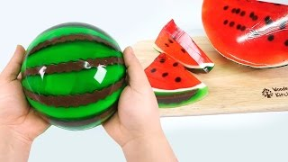 DIY Giant Jello Watermelon ! Gummy Jello Watermelon Slices   MonsterKids