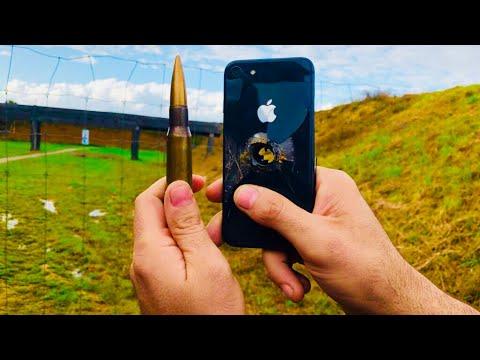 JE TIRE SUR UN IPHONE 8 AVEC UN CAL.50 !