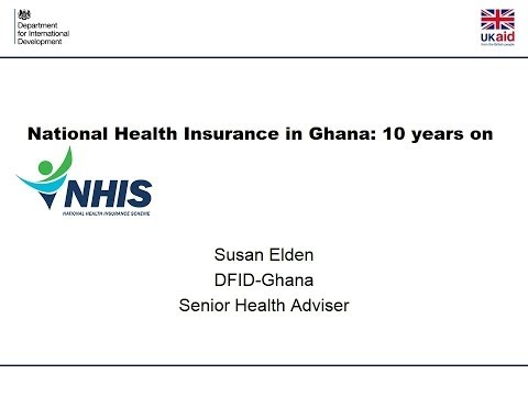 Susan Elden - seminar on National Health Insurance in Ghana