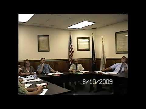 Champlain Village Board Meeting 8-10-09