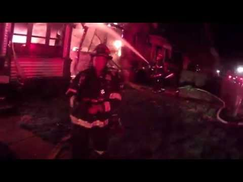 Helmet cam: Double Ind. house fire fully involved