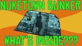 Black Ops 2 Nuketown Zombies Inside The Bunker Easter Egg