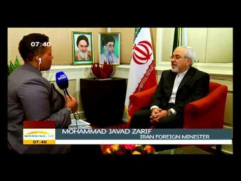 Desiree Chauke talks to Mohammad Javad Zarif (Iran's Foreign Minister)