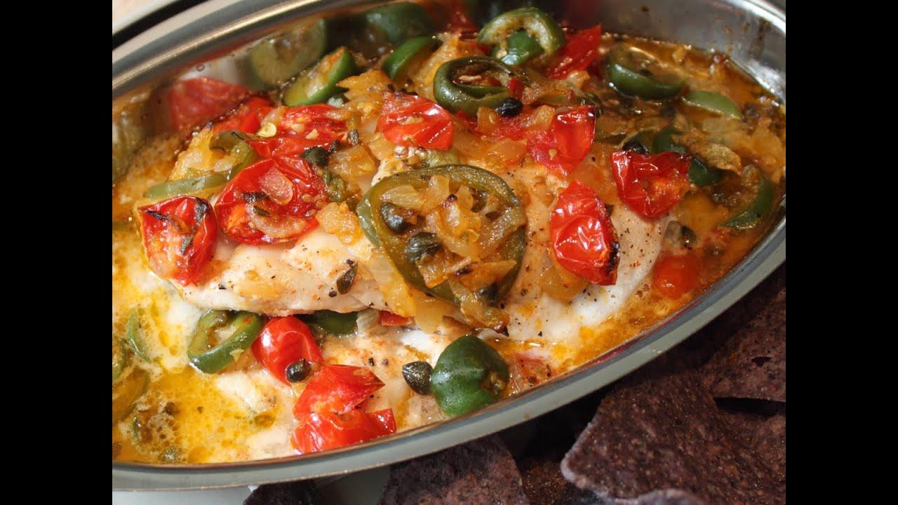 Veracruz-Style Red Snapper Recipe - Easy Baked Fish Veracruz - YouTube