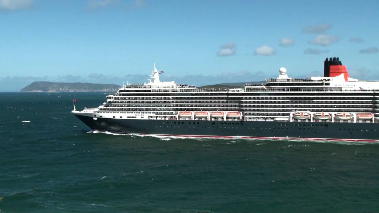 Queen Victoria Cruise Ship Leaving Albany  YouTube