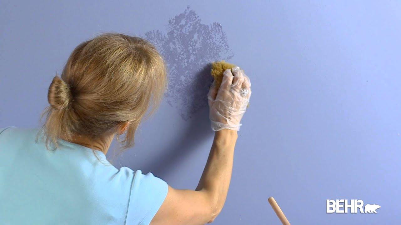 Peinture behr comme faire la technique d 39 application l for Technique de peinture murale a l eponge