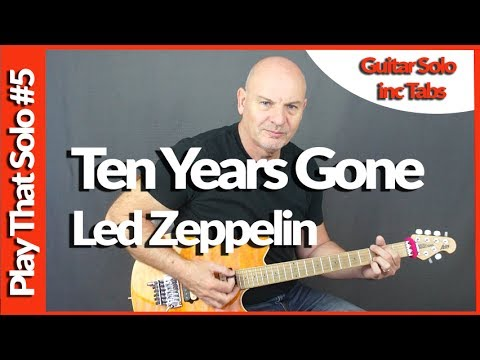 Ten Years Gone By Led Zeppelin Guitar Solo Lesson