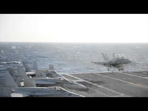 140313-N-XI307-005: USS George H.W. Bush (CVN 77) Conducts Flight Ops in Med