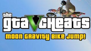 GTA 5 Cheats : Ultimate Moon Gravity Bike Jump