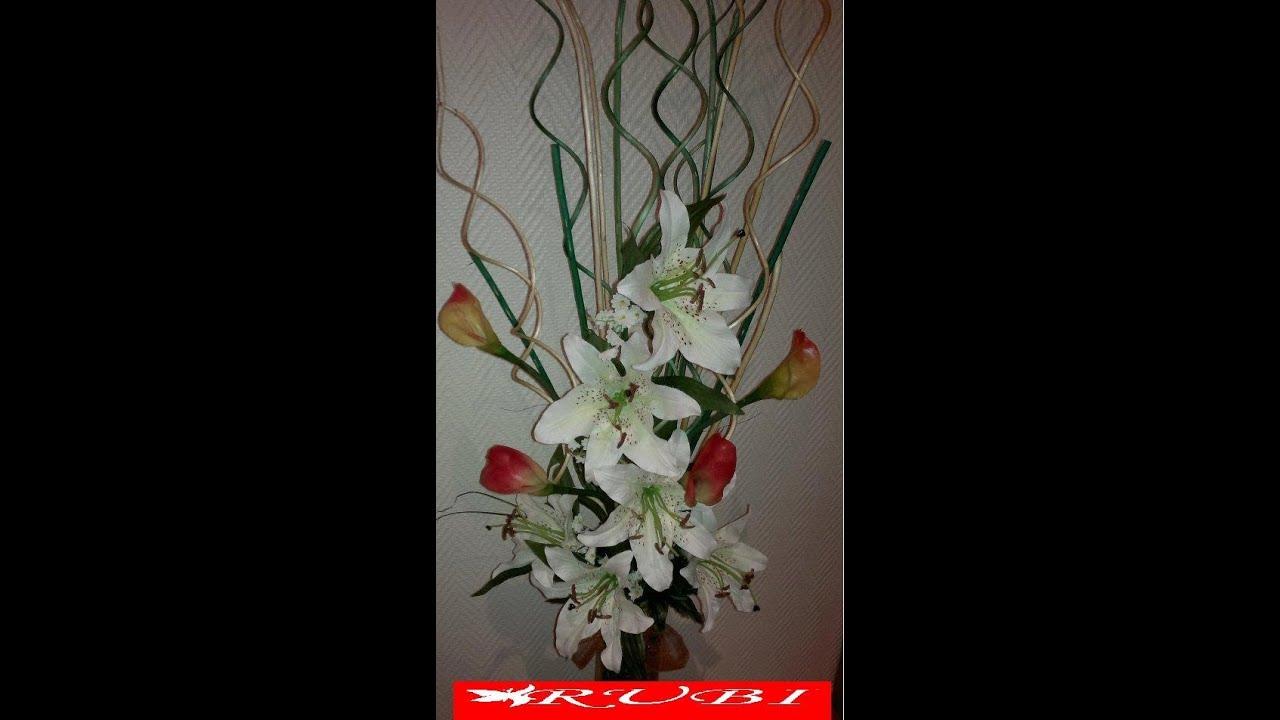 Diy manualidades arreglo floral en jarron alto youtube - Decoracion de jarrones con flores artificiales ...