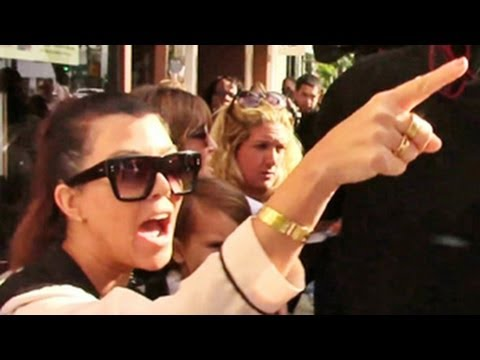Kourtney Kardashian Abuses Paparazzi -