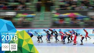 Speed Skating Mass Start - Min Seok Kim (KOR) wins Men's gold   Lillehammer 2016 Youth Olympic Games