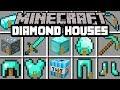 Minecraft DIAMOND HOUSES MOD LIVE INSIDE DIAMOND BLOCK SWORD HOUSE MORE Modded Mini Game
