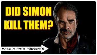SIMON VS NEGAN - DID SIMON DO IT? The Walking Dead Season 8